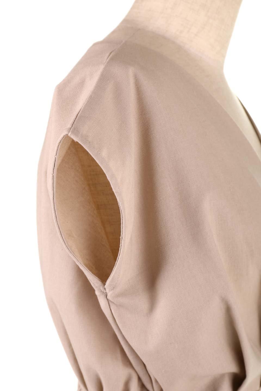 FrenchSleeveCache-CoeurDress麻混カシュクールワンピース大人カジュアルに最適な海外ファッションのothers(その他インポートアイテム)のワンピースやミディワンピース。夏にうれしい麻混素材のキレイ目なカシュクールワンピース。リネン独特な張りが綺麗なシルエットを演出してくれます。/main-23