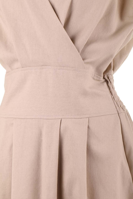 FrenchSleeveCache-CoeurDress麻混カシュクールワンピース大人カジュアルに最適な海外ファッションのothers(その他インポートアイテム)のワンピースやミディワンピース。夏にうれしい麻混素材のキレイ目なカシュクールワンピース。リネン独特な張りが綺麗なシルエットを演出してくれます。/main-24