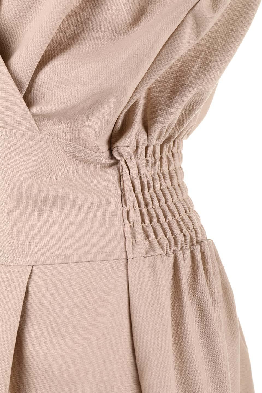 FrenchSleeveCache-CoeurDress麻混カシュクールワンピース大人カジュアルに最適な海外ファッションのothers(その他インポートアイテム)のワンピースやミディワンピース。夏にうれしい麻混素材のキレイ目なカシュクールワンピース。リネン独特な張りが綺麗なシルエットを演出してくれます。/main-25