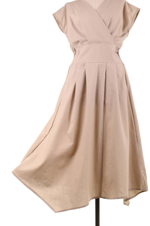 FrenchSleeveCache-CoeurDress麻混カシュクールワンピース大人カジュアルに最適な海外ファッションのothers(その他インポートアイテム)のワンピースやミディワンピース。夏にうれしい麻混素材のキレイ目なカシュクールワンピース。リネン独特な張りが綺麗なシルエットを演出してくれます。/main-28