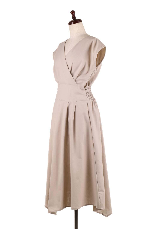 FrenchSleeveCache-CoeurDress麻混カシュクールワンピース大人カジュアルに最適な海外ファッションのothers(その他インポートアイテム)のワンピースやミディワンピース。夏にうれしい麻混素材のキレイ目なカシュクールワンピース。リネン独特な張りが綺麗なシルエットを演出してくれます。/main-6