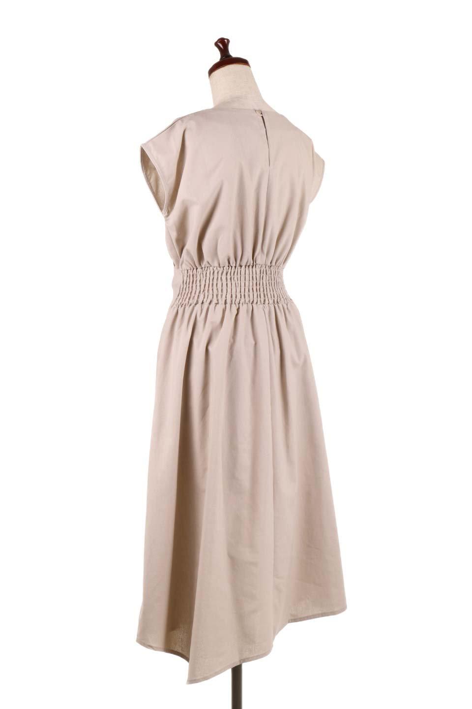 FrenchSleeveCache-CoeurDress麻混カシュクールワンピース大人カジュアルに最適な海外ファッションのothers(その他インポートアイテム)のワンピースやミディワンピース。夏にうれしい麻混素材のキレイ目なカシュクールワンピース。リネン独特な張りが綺麗なシルエットを演出してくれます。/main-8