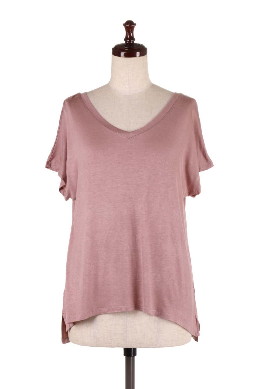 L.A.直輸入のClassicDolmanSleeveV-neckTeeドルマンスリーブ・VネックTシャツ大人カジュアルに最適な海外ファッションのothers(その他インポートアイテム)のトップスやTシャツ。シンプルなドルマンスリーブのVネックTシャツ。レーヨンのテロテロ感がとても気持ち良いトップスです。/main-15