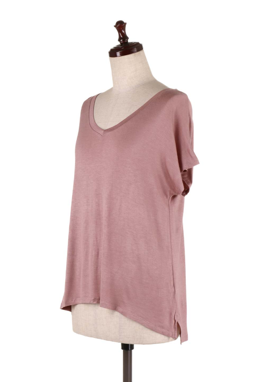 L.A.直輸入のClassicDolmanSleeveV-neckTeeドルマンスリーブ・VネックTシャツ大人カジュアルに最適な海外ファッションのothers(その他インポートアイテム)のトップスやTシャツ。シンプルなドルマンスリーブのVネックTシャツ。レーヨンのテロテロ感がとても気持ち良いトップスです。/main-16