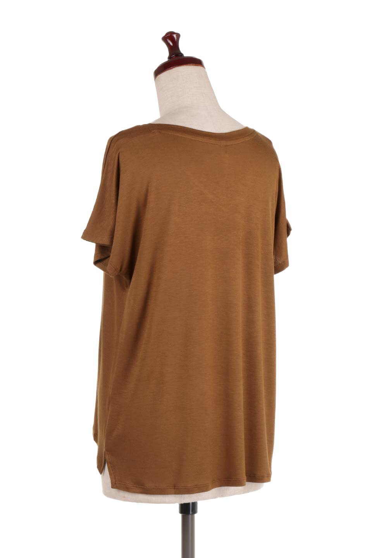 L.A.直輸入のClassicDolmanSleeveV-neckTeeドルマンスリーブ・VネックTシャツ大人カジュアルに最適な海外ファッションのothers(その他インポートアイテム)のトップスやTシャツ。シンプルなドルマンスリーブのVネックTシャツ。レーヨンのテロテロ感がとても気持ち良いトップスです。/main-23