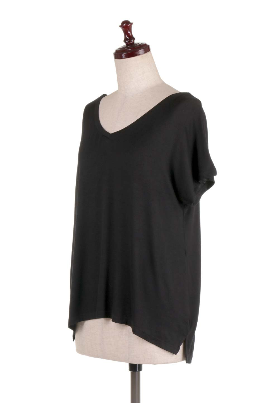 L.A.直輸入のClassicDolmanSleeveV-neckTeeドルマンスリーブ・VネックTシャツ大人カジュアルに最適な海外ファッションのothers(その他インポートアイテム)のトップスやTシャツ。シンプルなドルマンスリーブのVネックTシャツ。レーヨンのテロテロ感がとても気持ち良いトップスです。/main-26