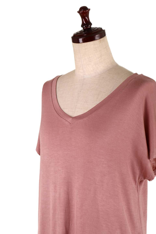 L.A.直輸入のClassicDolmanSleeveV-neckTeeドルマンスリーブ・VネックTシャツ大人カジュアルに最適な海外ファッションのothers(その他インポートアイテム)のトップスやTシャツ。シンプルなドルマンスリーブのVネックTシャツ。レーヨンのテロテロ感がとても気持ち良いトップスです。/main-31