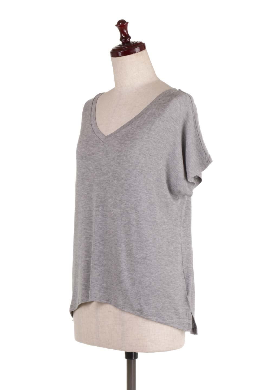 L.A.直輸入のClassicDolmanSleeveV-neckTeeドルマンスリーブ・VネックTシャツ大人カジュアルに最適な海外ファッションのothers(その他インポートアイテム)のトップスやTシャツ。シンプルなドルマンスリーブのVネックTシャツ。レーヨンのテロテロ感がとても気持ち良いトップスです。/main-6