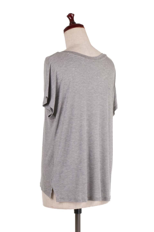 L.A.直輸入のClassicDolmanSleeveV-neckTeeドルマンスリーブ・VネックTシャツ大人カジュアルに最適な海外ファッションのothers(その他インポートアイテム)のトップスやTシャツ。シンプルなドルマンスリーブのVネックTシャツ。レーヨンのテロテロ感がとても気持ち良いトップスです。/main-8