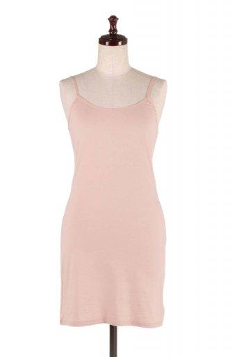 海外ファッションや大人カジュアルにオススメなインポートセレクトアイテムL.A.直輸入のBody-Fit Cami Dress ストレッチコットン・タイトワンピース