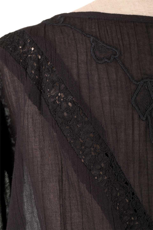 LOVESTITCHのAnyaTop(Whtie)刺繍入りコットンガーゼブラウス/海外ファッションが好きな大人カジュアルのためのLOVESTITCH(ラブステッチ)のトップスやシャツ・ブラウス。ボヘミアンテイストのショート丈コットンガーゼブラウス。ガーゼの透け感が上品で夏らしいアイテム。/main-9