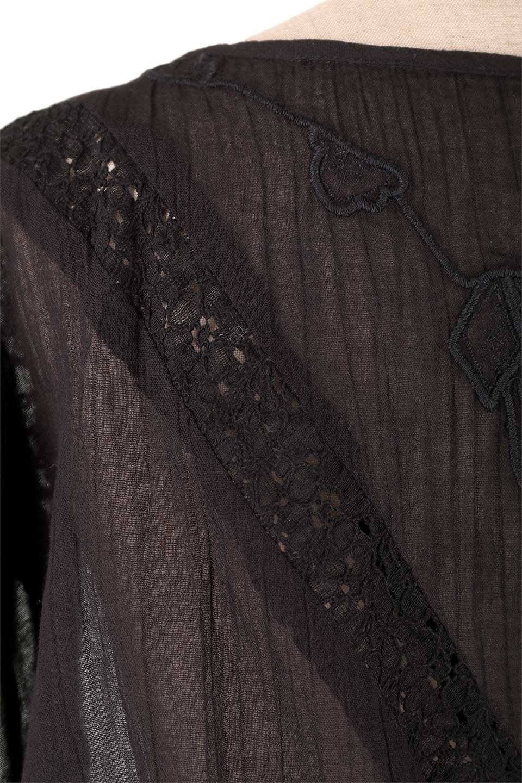 LOVESTITCHのAnyaTop(Black)刺繍入りコットンガーゼブラウス/海外ファッションが好きな大人カジュアルのためのLOVESTITCH(ラブステッチ)のトップスやシャツ・ブラウス。ボヘミアンテイストのショート丈コットンガーゼブラウス。ガーゼの透け感が上品で夏らしいアイテム。/main-11