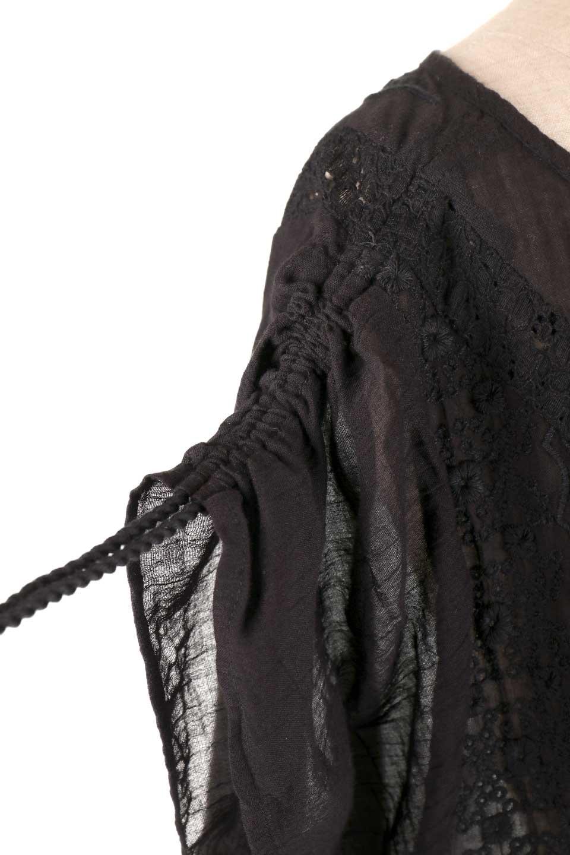 LOVESTITCHのAnyaTop(Black)刺繍入りコットンガーゼブラウス/海外ファッションが好きな大人カジュアルのためのLOVESTITCH(ラブステッチ)のトップスやシャツ・ブラウス。ボヘミアンテイストのショート丈コットンガーゼブラウス。ガーゼの透け感が上品で夏らしいアイテム。/main-12