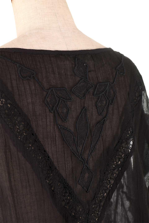 LOVESTITCHのAnyaTop(Black)刺繍入りコットンガーゼブラウス/海外ファッションが好きな大人カジュアルのためのLOVESTITCH(ラブステッチ)のトップスやシャツ・ブラウス。ボヘミアンテイストのショート丈コットンガーゼブラウス。ガーゼの透け感が上品で夏らしいアイテム。/main-7