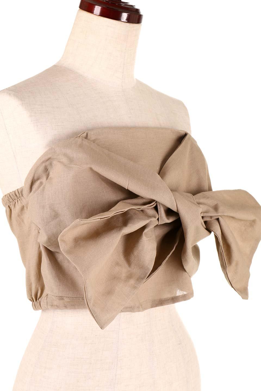 BigRibbonBestieビッグリボンビスチェ大人カジュアルに最適な海外ファッションのothers(その他インポートアイテム)のトップスやカットソー。大きなリボンモチーフが目を引く麻混のビスチェ。シンプルなトップスと相性の良いビスチェ。/main-20