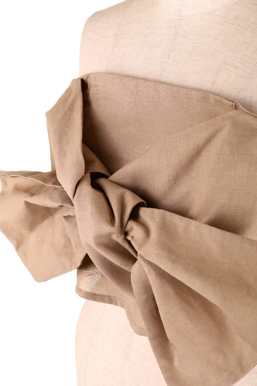 BigRibbonBestieビッグリボンビスチェ大人カジュアルに最適な海外ファッションのothers(その他インポートアイテム)のトップスやカットソー。大きなリボンモチーフが目を引く麻混のビスチェ。シンプルなトップスと相性の良いビスチェ。/main-23