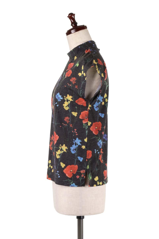 StandNeckFlowerTopスタンドカラー花柄トップス大人カジュアルに最適な海外ファッションのothers(その他インポートアイテム)のトップスやカットソー。可愛らしい花柄のノースリーブトップス。水彩画のような花のプリントにウォッシュ加工が施され、カジュアルな雰囲気です。/main-12