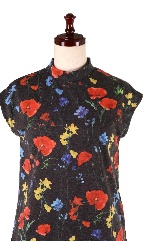StandNeckFlowerTopスタンドカラー花柄トップス大人カジュアルに最適な海外ファッションのothers(その他インポートアイテム)のトップスやカットソー。可愛らしい花柄のノースリーブトップス。水彩画のような花のプリントにウォッシュ加工が施され、カジュアルな雰囲気です。/main-15