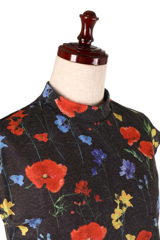 StandNeckFlowerTopスタンドカラー花柄トップス大人カジュアルに最適な海外ファッションのothers(その他インポートアイテム)のトップスやカットソー。可愛らしい花柄のノースリーブトップス。水彩画のような花のプリントにウォッシュ加工が施され、カジュアルな雰囲気です。/main-16