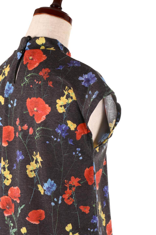 StandNeckFlowerTopスタンドカラー花柄トップス大人カジュアルに最適な海外ファッションのothers(その他インポートアイテム)のトップスやカットソー。可愛らしい花柄のノースリーブトップス。水彩画のような花のプリントにウォッシュ加工が施され、カジュアルな雰囲気です。/main-18