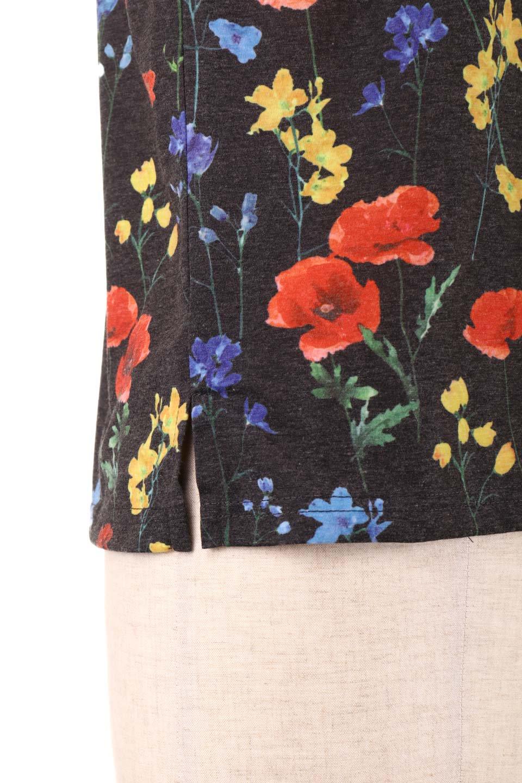 StandNeckFlowerTopスタンドカラー花柄トップス大人カジュアルに最適な海外ファッションのothers(その他インポートアイテム)のトップスやカットソー。可愛らしい花柄のノースリーブトップス。水彩画のような花のプリントにウォッシュ加工が施され、カジュアルな雰囲気です。/main-20