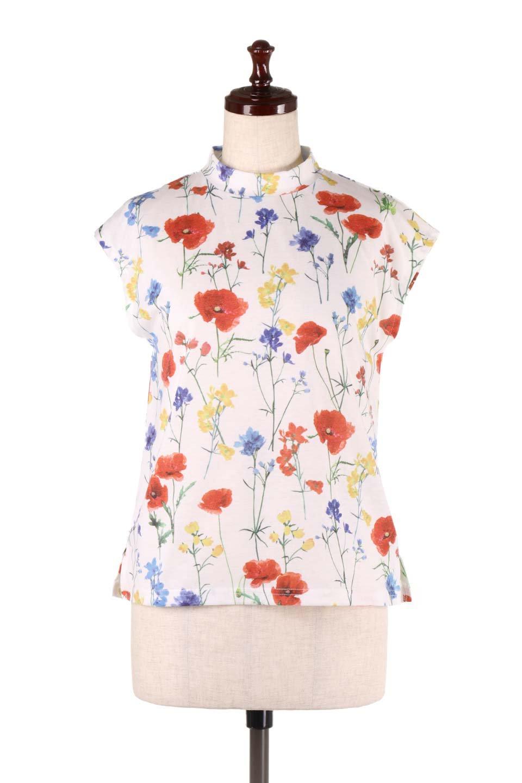 StandNeckFlowerTopスタンドカラー花柄トップス大人カジュアルに最適な海外ファッションのothers(その他インポートアイテム)のトップスやカットソー。可愛らしい花柄のノースリーブトップス。水彩画のような花のプリントにウォッシュ加工が施され、カジュアルな雰囲気です。/main-5