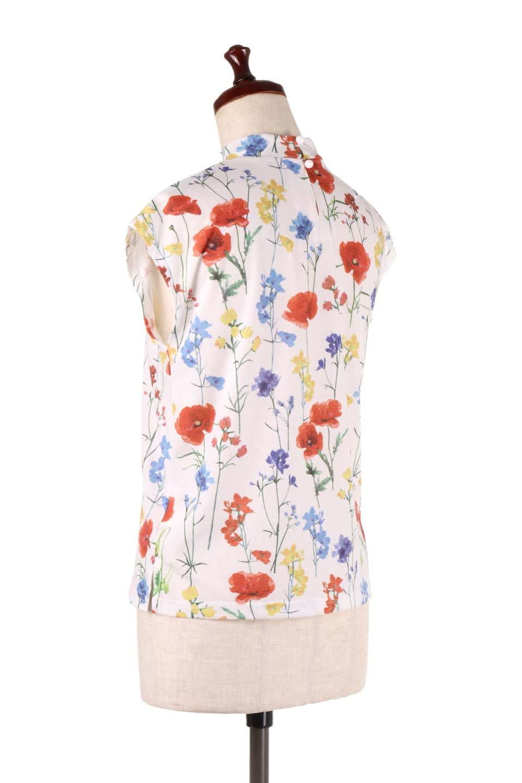 StandNeckFlowerTopスタンドカラー花柄トップス大人カジュアルに最適な海外ファッションのothers(その他インポートアイテム)のトップスやカットソー。可愛らしい花柄のノースリーブトップス。水彩画のような花のプリントにウォッシュ加工が施され、カジュアルな雰囲気です。/main-8