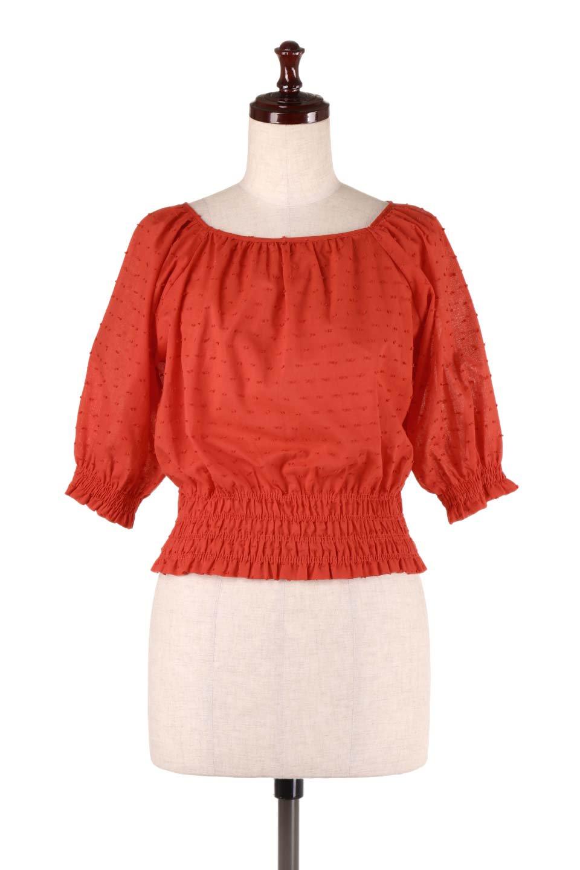 PuffSleeveCut-DobbyBlouseパフスリーブ・カットドビーブラウス大人カジュアルに最適な海外ファッションのothers(その他インポートアイテム)のトップスやシャツ・ブラウス。ショート丈のパフスリーブ・カットドビーブラウス。ポツポツと見えるドビー織が可愛いアイテム。/main-10