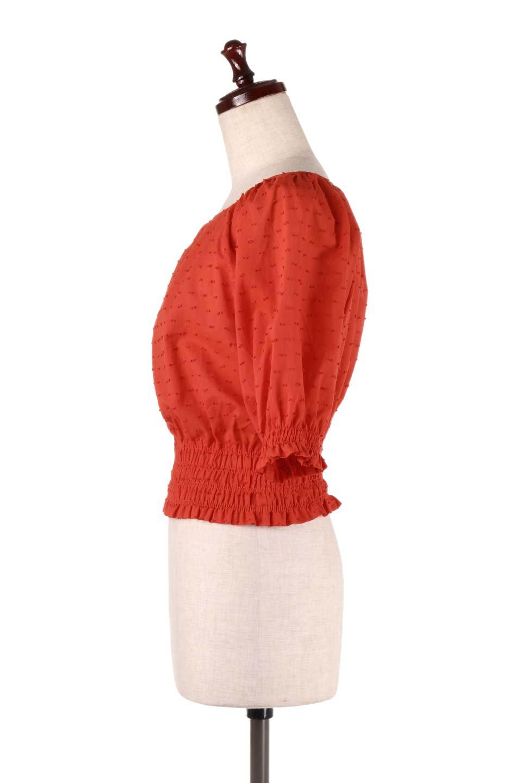 PuffSleeveCut-DobbyBlouseパフスリーブ・カットドビーブラウス大人カジュアルに最適な海外ファッションのothers(その他インポートアイテム)のトップスやシャツ・ブラウス。ショート丈のパフスリーブ・カットドビーブラウス。ポツポツと見えるドビー織が可愛いアイテム。/main-12