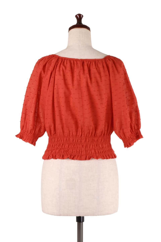 PuffSleeveCut-DobbyBlouseパフスリーブ・カットドビーブラウス大人カジュアルに最適な海外ファッションのothers(その他インポートアイテム)のトップスやシャツ・ブラウス。ショート丈のパフスリーブ・カットドビーブラウス。ポツポツと見えるドビー織が可愛いアイテム。/main-14