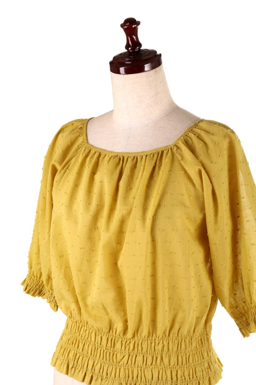 PuffSleeveCut-DobbyBlouseパフスリーブ・カットドビーブラウス大人カジュアルに最適な海外ファッションのothers(その他インポートアイテム)のトップスやシャツ・ブラウス。ショート丈のパフスリーブ・カットドビーブラウス。ポツポツと見えるドビー織が可愛いアイテム。/main-15