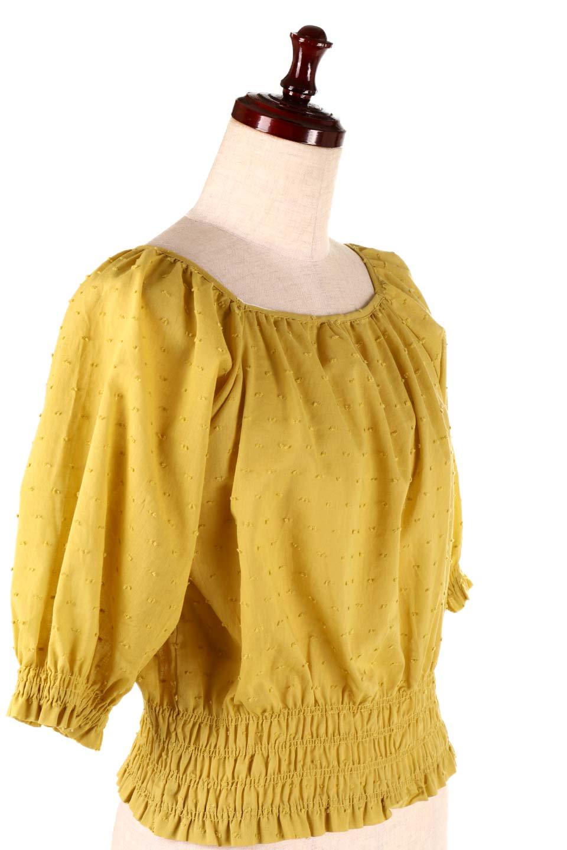 PuffSleeveCut-DobbyBlouseパフスリーブ・カットドビーブラウス大人カジュアルに最適な海外ファッションのothers(その他インポートアイテム)のトップスやシャツ・ブラウス。ショート丈のパフスリーブ・カットドビーブラウス。ポツポツと見えるドビー織が可愛いアイテム。/main-16