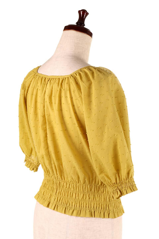 PuffSleeveCut-DobbyBlouseパフスリーブ・カットドビーブラウス大人カジュアルに最適な海外ファッションのothers(その他インポートアイテム)のトップスやシャツ・ブラウス。ショート丈のパフスリーブ・カットドビーブラウス。ポツポツと見えるドビー織が可愛いアイテム。/main-17