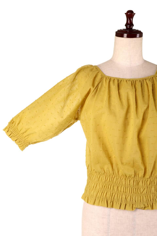 PuffSleeveCut-DobbyBlouseパフスリーブ・カットドビーブラウス大人カジュアルに最適な海外ファッションのothers(その他インポートアイテム)のトップスやシャツ・ブラウス。ショート丈のパフスリーブ・カットドビーブラウス。ポツポツと見えるドビー織が可愛いアイテム。/main-18