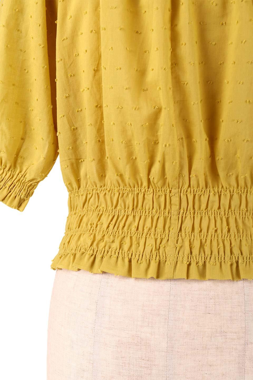 PuffSleeveCut-DobbyBlouseパフスリーブ・カットドビーブラウス大人カジュアルに最適な海外ファッションのothers(その他インポートアイテム)のトップスやシャツ・ブラウス。ショート丈のパフスリーブ・カットドビーブラウス。ポツポツと見えるドビー織が可愛いアイテム。/main-19