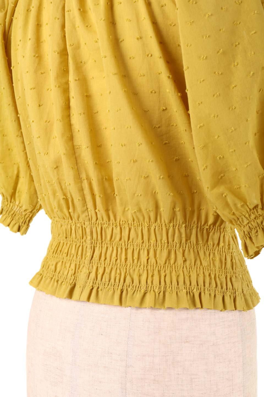 PuffSleeveCut-DobbyBlouseパフスリーブ・カットドビーブラウス大人カジュアルに最適な海外ファッションのothers(その他インポートアイテム)のトップスやシャツ・ブラウス。ショート丈のパフスリーブ・カットドビーブラウス。ポツポツと見えるドビー織が可愛いアイテム。/main-20