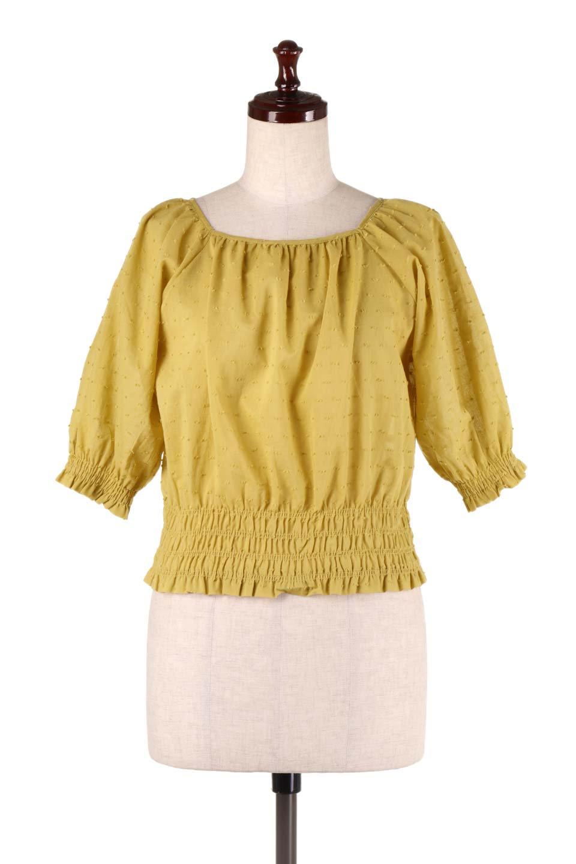 PuffSleeveCut-DobbyBlouseパフスリーブ・カットドビーブラウス大人カジュアルに最適な海外ファッションのothers(その他インポートアイテム)のトップスやシャツ・ブラウス。ショート丈のパフスリーブ・カットドビーブラウス。ポツポツと見えるドビー織が可愛いアイテム。/main-5