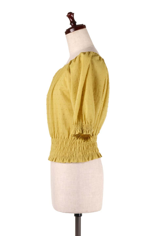 PuffSleeveCut-DobbyBlouseパフスリーブ・カットドビーブラウス大人カジュアルに最適な海外ファッションのothers(その他インポートアイテム)のトップスやシャツ・ブラウス。ショート丈のパフスリーブ・カットドビーブラウス。ポツポツと見えるドビー織が可愛いアイテム。/main-7