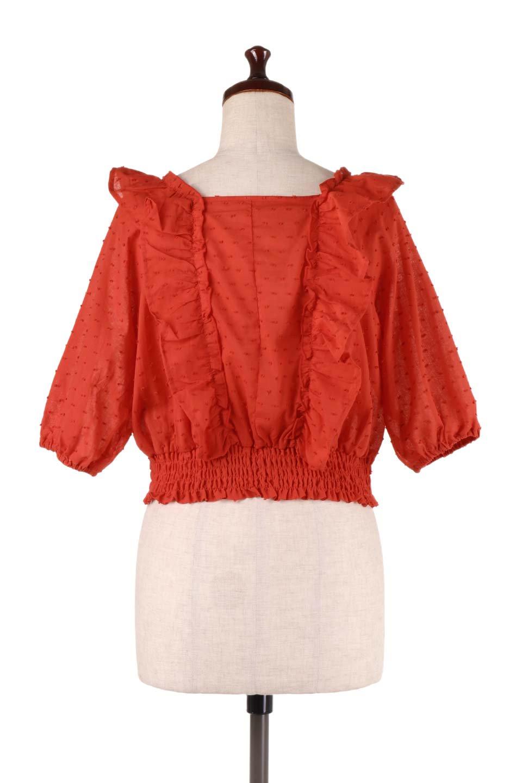 Cut-DobbyFrillBlouseカットドビー・フリルブラウス大人カジュアルに最適な海外ファッションのothers(その他インポートアイテム)のトップスやシャツ・ブラウス。カットドビー織が可愛いフリルブラウス。ポツポツと見えるドビー織が可愛いアイテム。/main-13