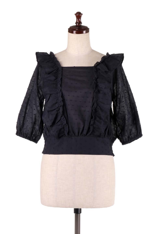 Cut-DobbyFrillBlouseカットドビー・フリルブラウス大人カジュアルに最適な海外ファッションのothers(その他インポートアイテム)のトップスやシャツ・ブラウス。カットドビー織が可愛いフリルブラウス。ポツポツと見えるドビー織が可愛いアイテム。/main-14
