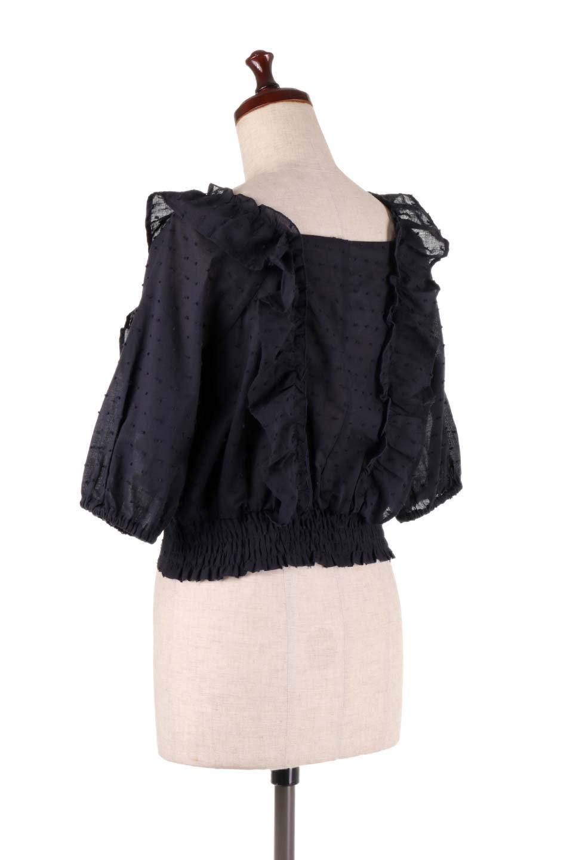 Cut-DobbyFrillBlouseカットドビー・フリルブラウス大人カジュアルに最適な海外ファッションのothers(その他インポートアイテム)のトップスやシャツ・ブラウス。カットドビー織が可愛いフリルブラウス。ポツポツと見えるドビー織が可愛いアイテム。/main-17