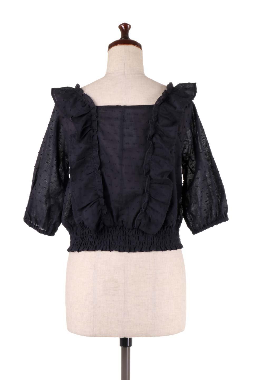 Cut-DobbyFrillBlouseカットドビー・フリルブラウス大人カジュアルに最適な海外ファッションのothers(その他インポートアイテム)のトップスやシャツ・ブラウス。カットドビー織が可愛いフリルブラウス。ポツポツと見えるドビー織が可愛いアイテム。/main-18