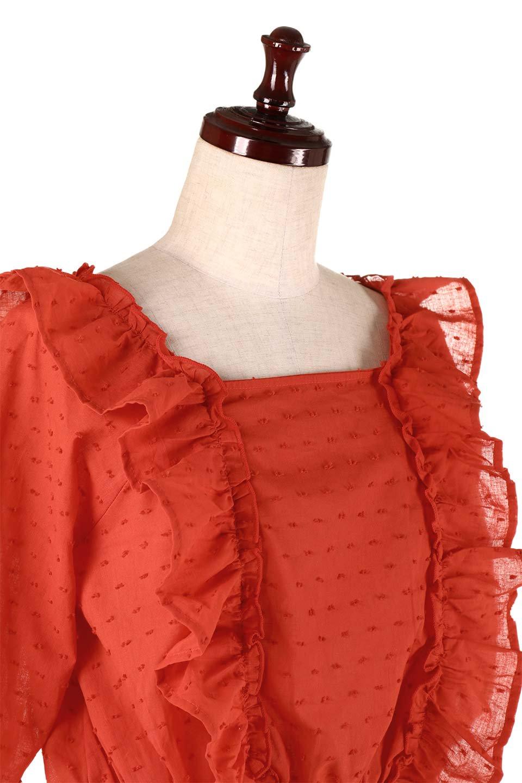 Cut-DobbyFrillBlouseカットドビー・フリルブラウス大人カジュアルに最適な海外ファッションのothers(その他インポートアイテム)のトップスやシャツ・ブラウス。カットドビー織が可愛いフリルブラウス。ポツポツと見えるドビー織が可愛いアイテム。/main-19