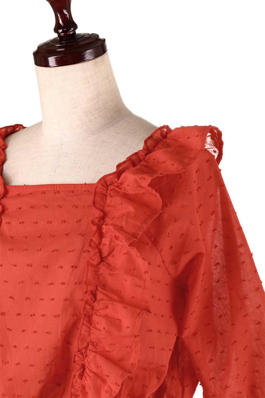 Cut-DobbyFrillBlouseカットドビー・フリルブラウス大人カジュアルに最適な海外ファッションのothers(その他インポートアイテム)のトップスやシャツ・ブラウス。カットドビー織が可愛いフリルブラウス。ポツポツと見えるドビー織が可愛いアイテム。/main-20
