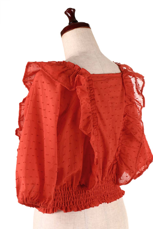 Cut-DobbyFrillBlouseカットドビー・フリルブラウス大人カジュアルに最適な海外ファッションのothers(その他インポートアイテム)のトップスやシャツ・ブラウス。カットドビー織が可愛いフリルブラウス。ポツポツと見えるドビー織が可愛いアイテム。/main-21