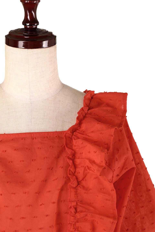 Cut-DobbyFrillBlouseカットドビー・フリルブラウス大人カジュアルに最適な海外ファッションのothers(その他インポートアイテム)のトップスやシャツ・ブラウス。カットドビー織が可愛いフリルブラウス。ポツポツと見えるドビー織が可愛いアイテム。/main-22