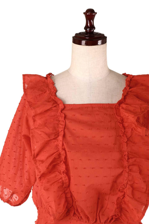 Cut-DobbyFrillBlouseカットドビー・フリルブラウス大人カジュアルに最適な海外ファッションのothers(その他インポートアイテム)のトップスやシャツ・ブラウス。カットドビー織が可愛いフリルブラウス。ポツポツと見えるドビー織が可愛いアイテム。/main-23