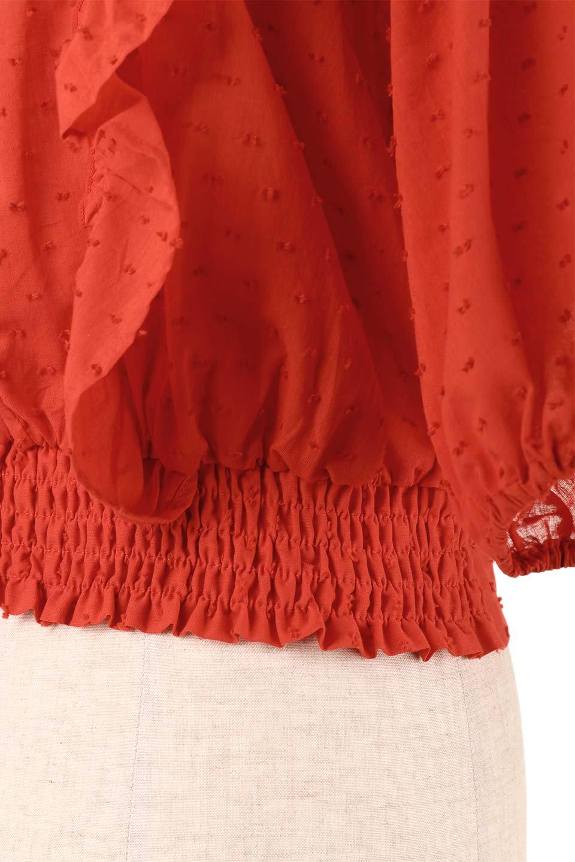 Cut-DobbyFrillBlouseカットドビー・フリルブラウス大人カジュアルに最適な海外ファッションのothers(その他インポートアイテム)のトップスやシャツ・ブラウス。カットドビー織が可愛いフリルブラウス。ポツポツと見えるドビー織が可愛いアイテム。/main-26