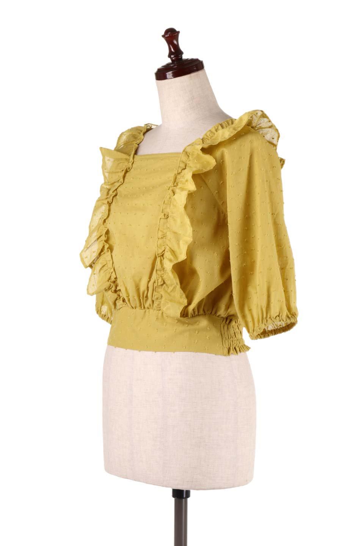 Cut-DobbyFrillBlouseカットドビー・フリルブラウス大人カジュアルに最適な海外ファッションのothers(その他インポートアイテム)のトップスやシャツ・ブラウス。カットドビー織が可愛いフリルブラウス。ポツポツと見えるドビー織が可愛いアイテム。/main-5