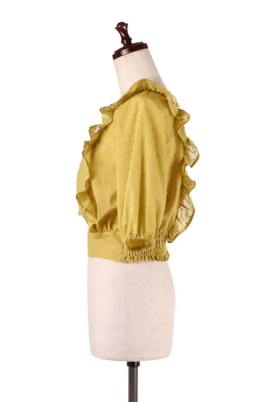 Cut-DobbyFrillBlouseカットドビー・フリルブラウス大人カジュアルに最適な海外ファッションのothers(その他インポートアイテム)のトップスやシャツ・ブラウス。カットドビー織が可愛いフリルブラウス。ポツポツと見えるドビー織が可愛いアイテム。/main-6